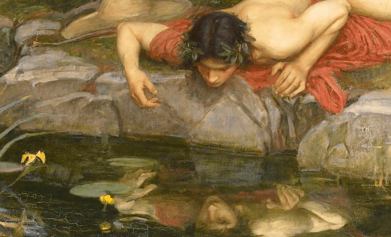 Согласно легенде, нарцисс умер из-за любви к самому себе